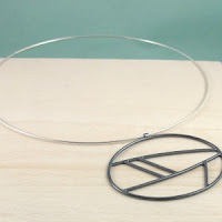 krjd  geometric necklace