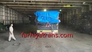 Kirim truk dengan kapal roro