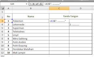 Cara Membuat Daftar Hadir Microsoft Excel