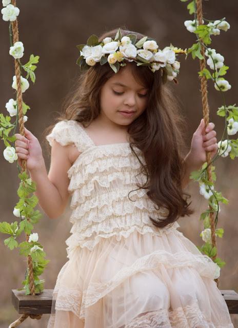 boho flower girl dress