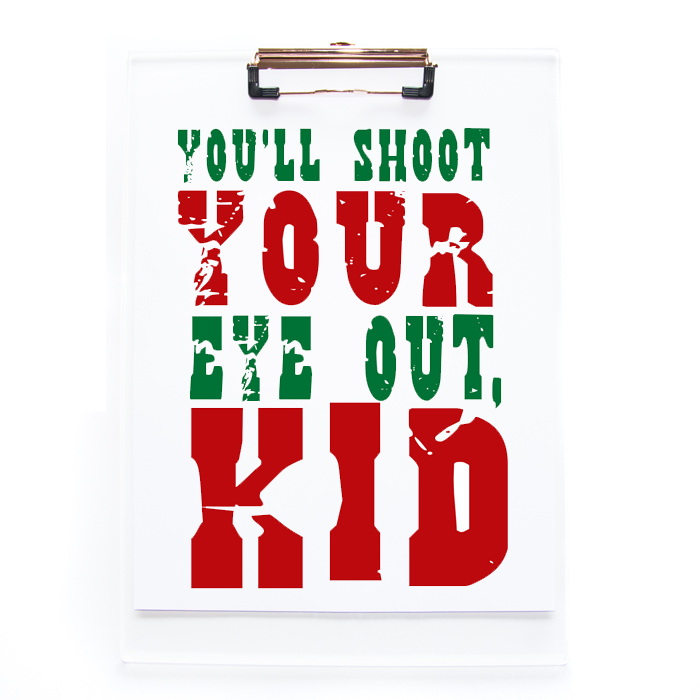 Six Printable Christmas Movie Quotes for instant holiday decor and fun!