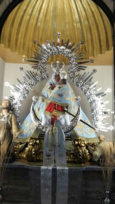 Imagen de la Virgen de la Cabeza de Marmolejo preparada para su Sabatina