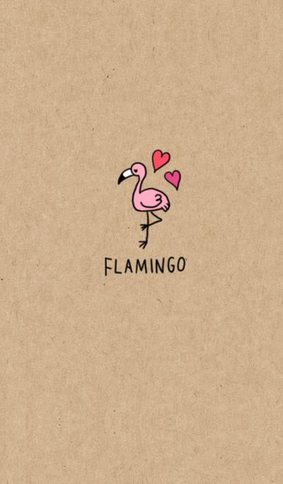 Kraftpaperx flamingo