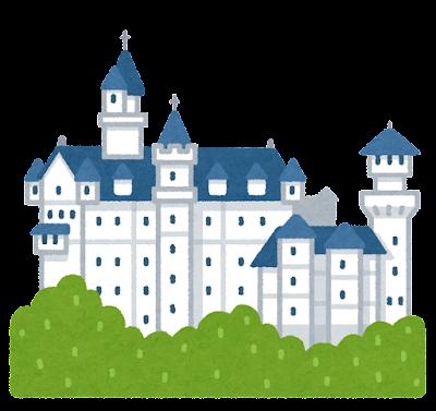ノイシュヴァンシュタイン城のイラスト