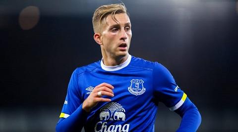 Deulofeu trong màu áo của Everton.