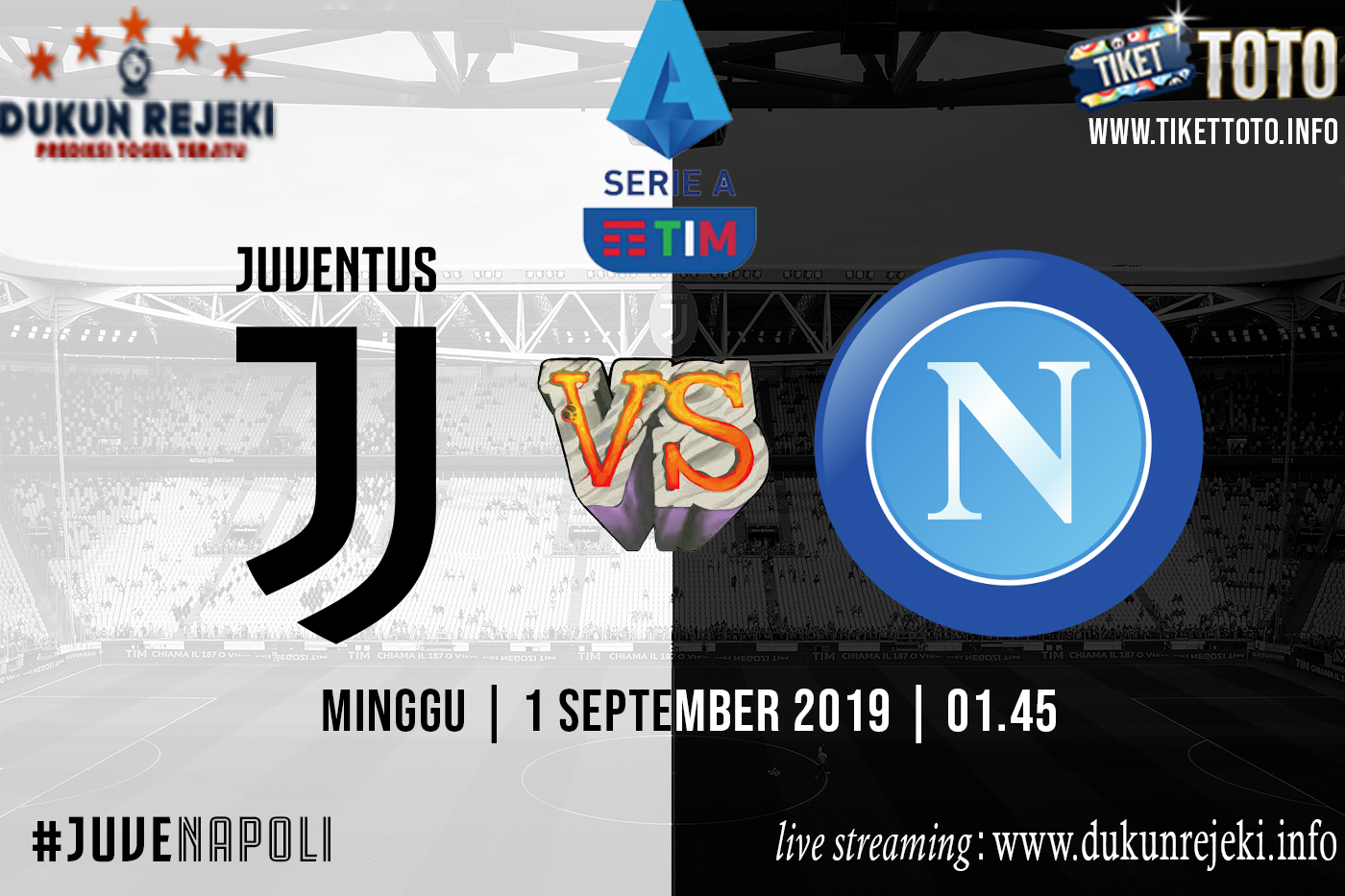 Prediksi Pertandingan Juventus Vs Napoli 1 September 2019