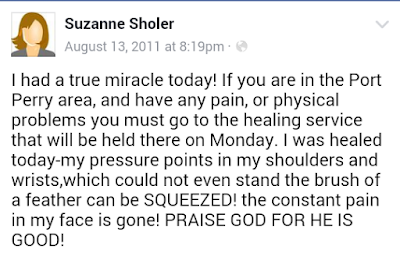 img Miracles Happen August 13 2011Facebook  Testimony Suzanne Sholer