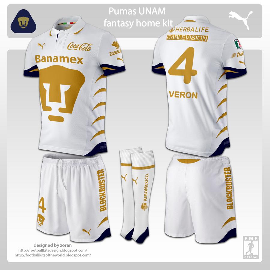 huge selection of 39497 bc5d7 football kits design: Pumas UNAM fanatasy kits