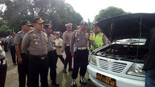 Kapolres Cirebon Kota Periksa Kendaraan Operasional Secara Rutin