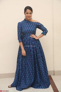 Anchor Anasuya in a Blue Gown at Jai Lava Kusa Trailer Launch ~  Exclusive Celebrities Galleries 015.JPG