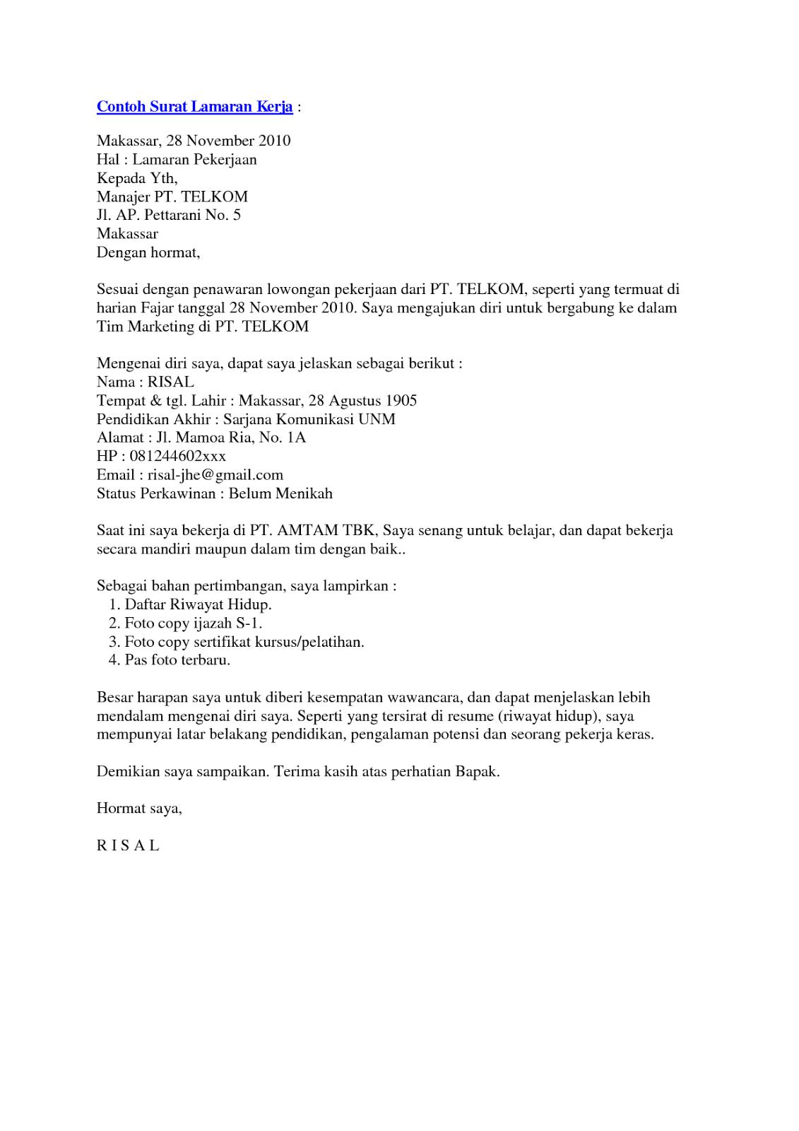 Format Cv Terbaru Pdf 9 Surat Lamaran Kerja Dan Daftar Riwayat