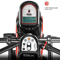 Max Trainer M3's monitor, image, with standard LCD/LED display, 2 programs, 8 resistance levels
