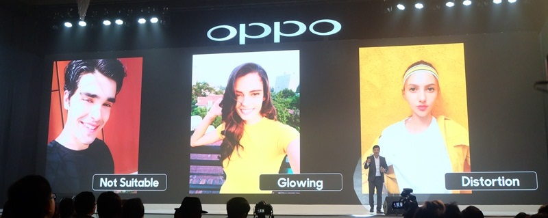 A.I. beauty recognition pada OPPO F5