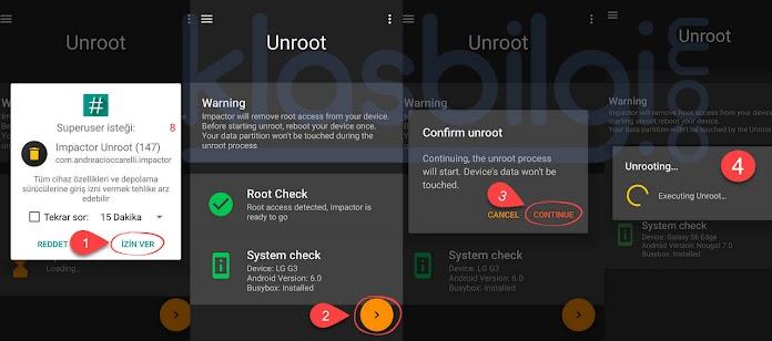 Impactor Unroot ile tek tıkla Root kaldırma