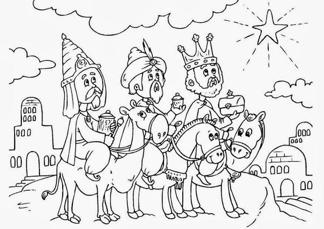 Maestra de Primaria: Dibujos de los Reyes Magos para colorear o ...