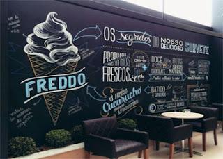 Dekorasi dinding cafe, hiasan dinding  cafe kekinian
