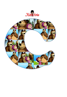 Abecedario de Masha y el Oso. Masha and the Bear Alphabet.