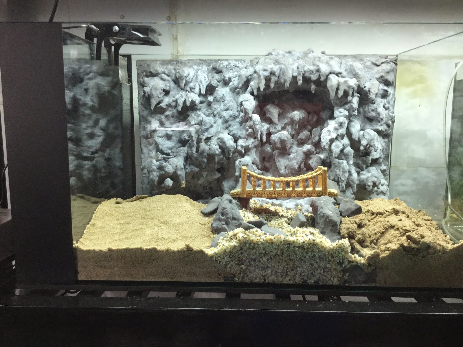Hồ thủy sinh suối thác động thạch nhũ - phiên bản chưa trang trí