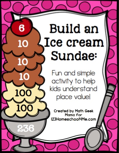 Place Value Ice Cream Sundae Activity