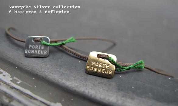 bracelets vanrycke porte bonheur mati res r flexion paris. Black Bedroom Furniture Sets. Home Design Ideas