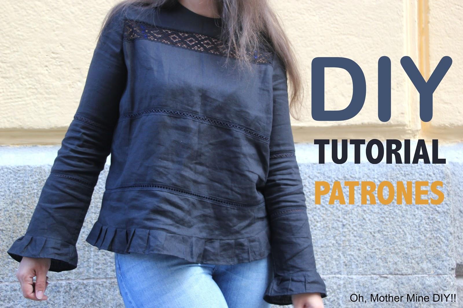 DIY Costura y patrones: Blusa con encajes para mujer - Handbox Craft ...
