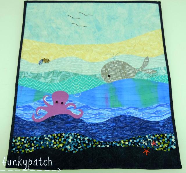 """Mini quilt """"bajo el Mar"""""""