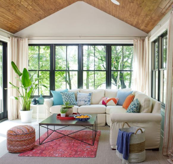 living room feel larger by adding large furniture