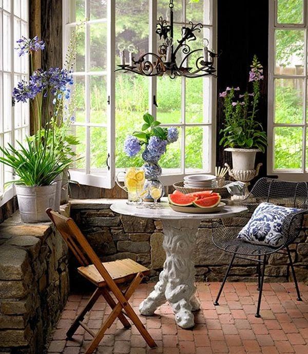decorando o terraço