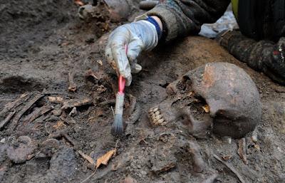 restos humanos del siglo 17