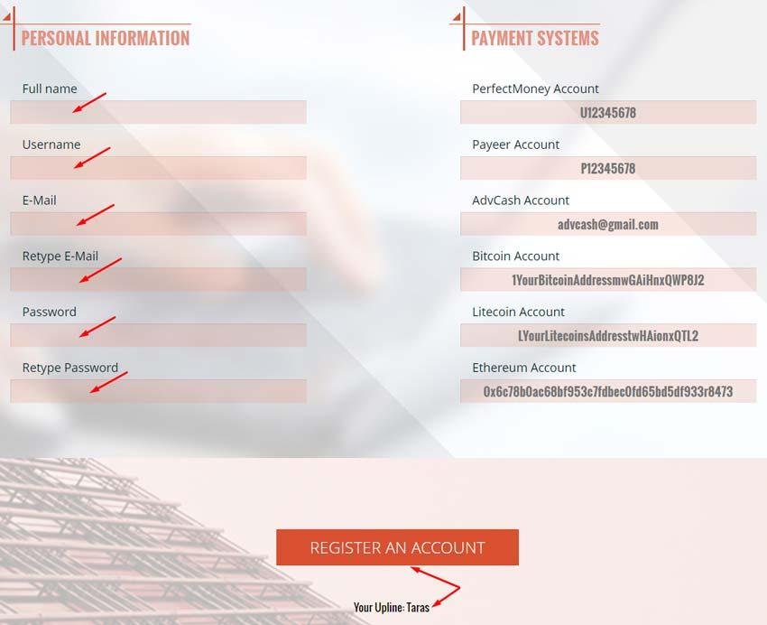 Регистрация в Alfa Union 2