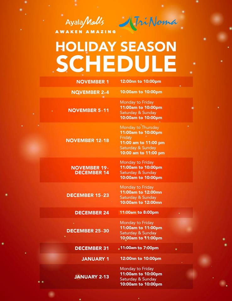 Philippines Mall 2020 Christmas Trinoma Mall Hours Christmas 2020 | Vynsfs.masternewyear.site