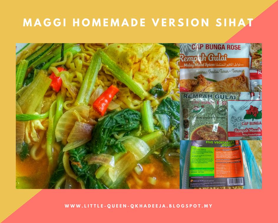 BREAKING THE IMPOSSIBLE : Resepi Mudah Maggi Homemade Versi Sihat