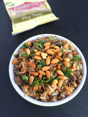Lebanese Hushwee Rice with Toasted Pine Nuts Lebanese Hushwee Rice with Toasted Pine Nuts Recipe