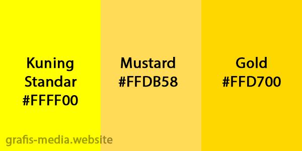 perbedaan warna mustard dan kuning dan gold