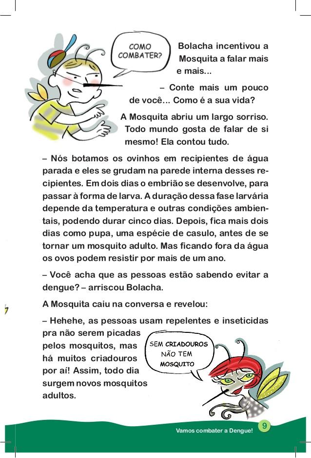 Historia Infantil Sobre a Dengue para Imprimir