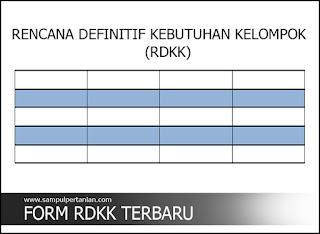 Format RDKK terbaru untuk di upload ke E-RDKK