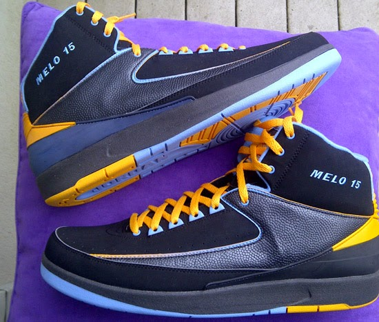 release date e0b0e 45dab Made in 2008, this Air Jordan 2 Retro is a player exclusive edition for Carmelo  Anthony. Coming in a Denver Nuggets