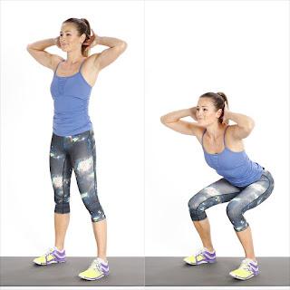 cara membentuk otot kaki dengan gerakan squat