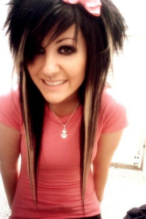 Girls hair hairstyles with medium emo