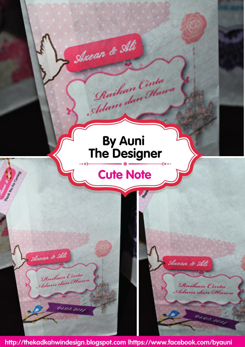 By Auni The Designer Printed Paper Bag Cute Note Design