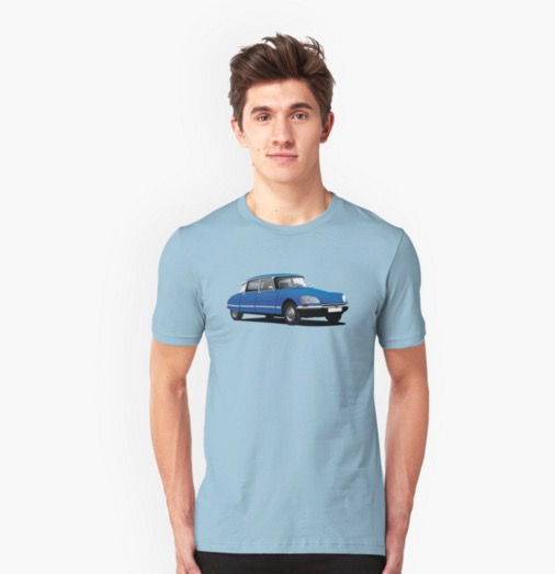 Citroën DS blue men t-shirt redbubble