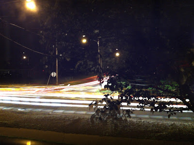 car light trails on iphone