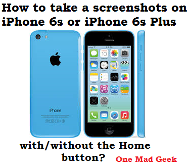 How to take a screenshot on iphone 6 without home button