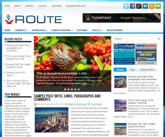 Route Blogger Template
