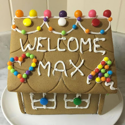 Our gingerbread house this Christmas.
