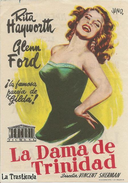 Programa de Cine - La Dama de Trinidad - Rita Hayworth - Glenn Ford