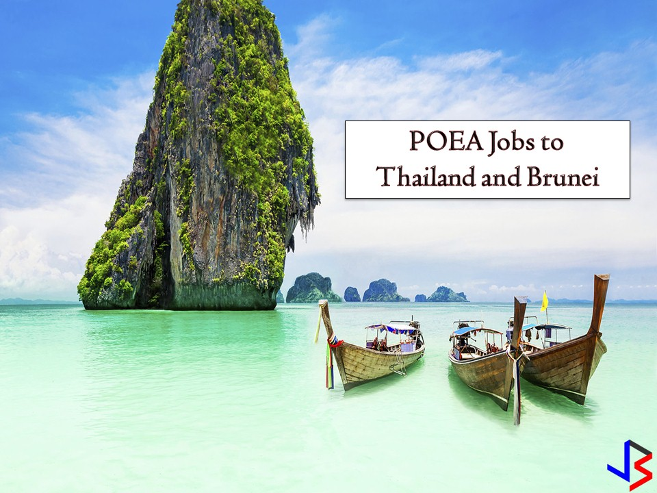 The following are job order approved by the Philippine Overseas Employment Administration (POEA) Brunei and Thailand. Brunei is particularly hiring for cooks, butchers, teachers, driver, laborer, nurses, waiter and waitress, and many others. While Thailand is looking for modellers, workshop manager, and technician.   Jbsolis.net is NOT a recruitment agency and we are NOT processing nor accepting applications for jobs abroad. All information in this article is taken from the website of POEA — www.poea.gov.ph for general purposes only. Recruitment agencies are being linked to each job orders so that interested applicants may know where to coordinate and apply for their desired position.  Interested applicant may double-check the job orders as well as the licensed of the hiring recruitment agencies in POEA website to make sure everything is legal.