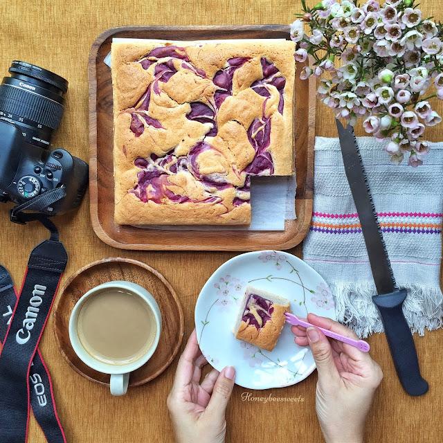 Purple sweet potato butter cake