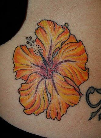 Hawaiian Flower Tattoos For Girls Design on Foot and Back ...