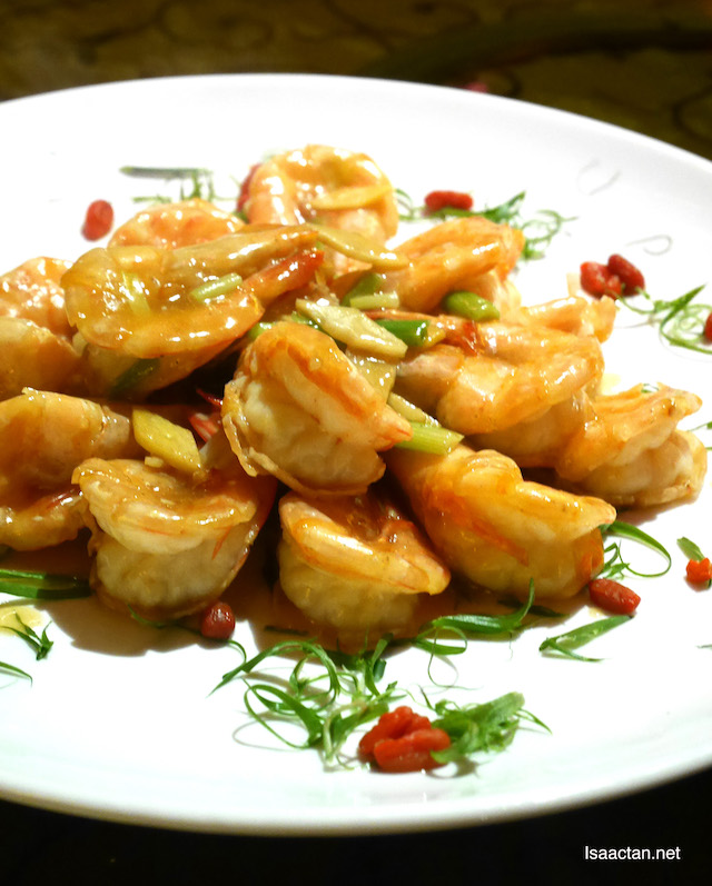 Sauteed Sea Prawn with Superior Sauce